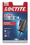 Loctite Super Glue-3 Pincel, pegamento transparente con pincel aplicador, adhesivo...