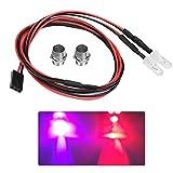 RC LED Luz Kits, 2PCS 5mm Faros RC Accesorios Luces LED para 1/10 Modelo Drift Car...