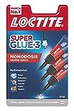Loctite Super Glue-3 Original Mini Trio, pegamento universal con triple resistencia,...