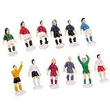 B Blesiya 1/87 Escala HO OO Modelo Figuras de Futbolista para Diorama Layout Modelismo (12...