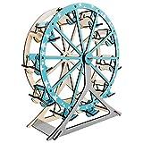 CFmoshu Puzzle 3D Modelo De Noria Kit De Construcción Set Model Cut Puzzle De Madera 3D...