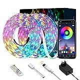 Luces de Tira LED, Ltteny tiras de LED 5050 SMD, tira de cambio de color RGB de brillo...