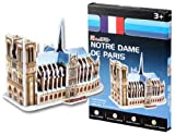 Cubic Fun S3012h 39-Piece Mini Notre Dame de Paris Paper 3D Jigsaw Puzzle