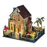 1yess Modelo Decoración LED Luz 3D Muñeca Muñeca Miniatura Kit DIY Hecho A Mano Mar...