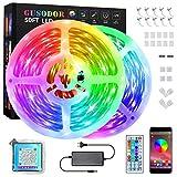 GUSODOR 15M Tiras Led Música Tiras de Luces Bluetooth 5050 Led Iluminación Control de...