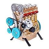 LMCLJJ Construir su Propio Motor de combustión Interna V4 Asamblea de Motor de Coche Kit...