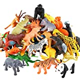 Conjunto de Juguetes Animales de Mini Selva de 54 Piezas,Favoritos de Fiesta de Animales...