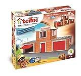 Teifoc Teifoc-T4800 Stone Blocks-Estación de Bomberos, Color Multicolor, Fire Station...
