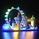 BRIKSMAX Kit de Iluminación Led para Architecture Londres-Compatible con Ladrillos de...