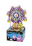 La Vida en Led DIY Caja de Música Noria Maqueta Puzzle 3D