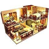 CUTEBEE Miniatura de la casa de muñecas con Muebles, Equipo de casa de muñecas de Madera...