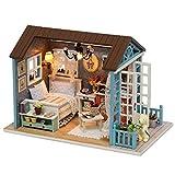 Fditt Juguete Miniatura de la Casa del Kit de los Muebles de la Cabaña de Madera de DIY...