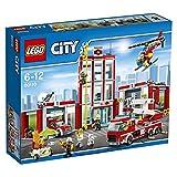 LEGO CITY - Estación de Bomberos, Juguete de Construcción, Incluye Camión, Helicóptero...