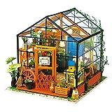 1yess Casa de muñecas Miniatura Kit Miniatura Muñeca Casa DIY Green Garden con Muebles...