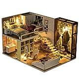 NROCF DIY Casa, 3D Dormitorio De Ensueño, De Madera Miniatura De La Casa De Muñecas Kits...