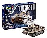 Revell-75 Years Tiger I Maqueta Tanque de Guerra, 14+ Años, Multicolor, 24,10 cm de Largo...