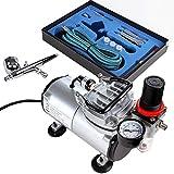 Timbertech - ABPST05 - Kit de aerógrafo y compresor - Con pistola de doble acción