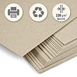 50 hojas papel grueso Cartón reciclado beig kraft claro DIN A4 220 g/m², Cartoncillo...