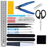 HSEAMALL Kit de herramientas de modelo Guandam, 17 piezas, herramientas de construcción...