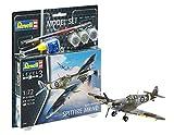 Revell Set Supermarine Spitfire M, en Kit Modelo con Base Accesorios, fácil Pegar y para...