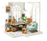 Rolife Miniatura casa de muñecas con Luces Office House Modelo DIY Craft Juguetes para...