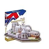 Cubicfun - Puzzle 3D Westminster Abbey de 145 piezas (Cubic Fun MC121h)