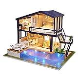 Anna-neek Maison de Bricolage 3d Diy Dollhouse avec Lumière LED, Kit Maison Miniature de...