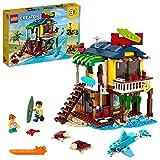 LEGO 31118 Creator 3en1 Casa Surfera en la Playa, Faro o Casa de la Piscina, Juguete de...