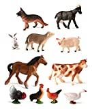 Miniland 27420 - Bote con 11 figuras animales, 11 unidades