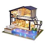 Oshide Wooden Dollhouse Miniatura Hecha A Mano De La Casa De Muñecas Del Kit De Muñeca...