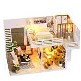 YeahiBaby Casa de Muñecas de Madera Miniatura DIY casa de Madera Kit Asamblea de casa...