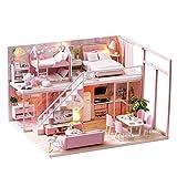Ardentity miniatura DIY casas de muñecas de madera, modelo Kits, DIY Cottage Decoración...