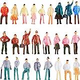 Gejoy 100 Piezas Figuras de Personas Modelos de Trenes Arquitectónicos de Plástico...