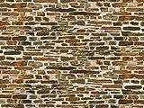 Auhagen 50.115,0 - Pared de Piedra caliza de Papel Decorativo, 220 x 100 mm, Colorido