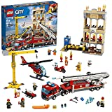 LEGO 60216 City Brigada de Bomberos del Distrito Centro, Camión, Grúa, Moto Helicóptero...