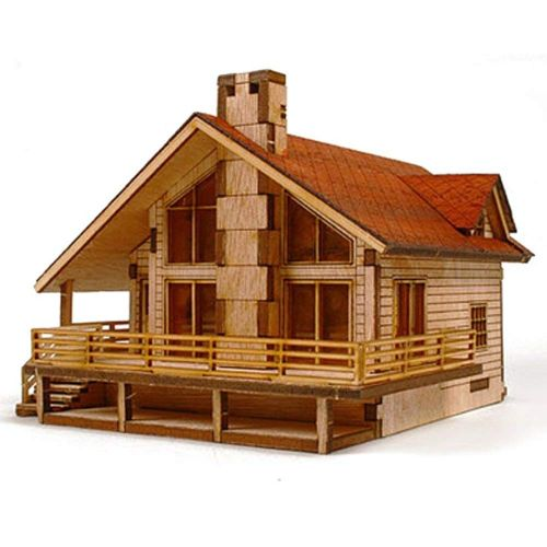 casitas de madera manualidades