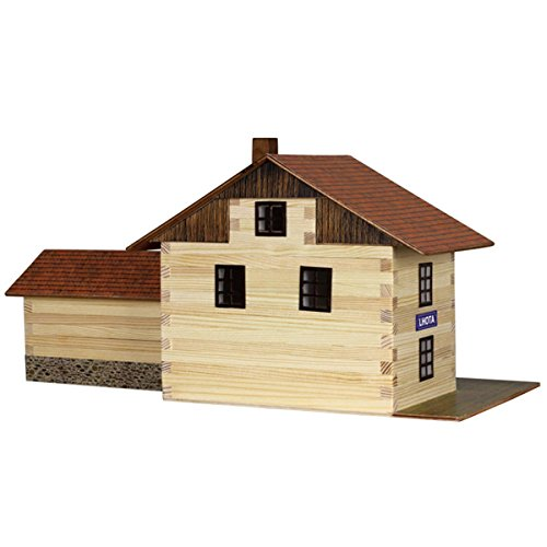 maquetas de casas con palitos de madera