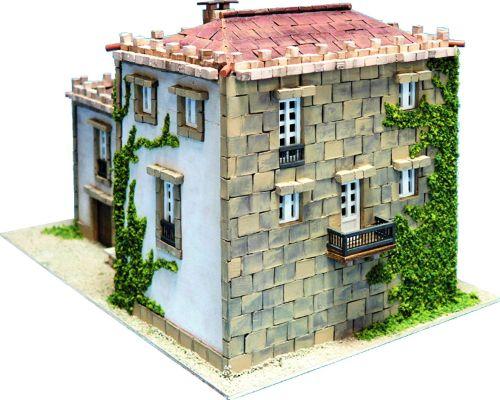 maquetas casas ladrillos miniatura