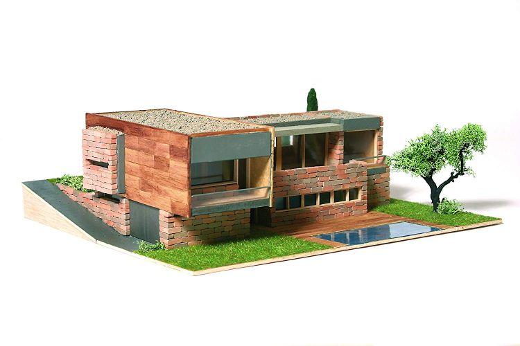 maquetas de casas de ladrillos