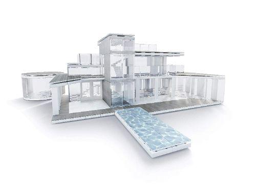maquetas de arquitectura moderna
