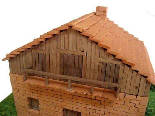maquetas casas de piedra