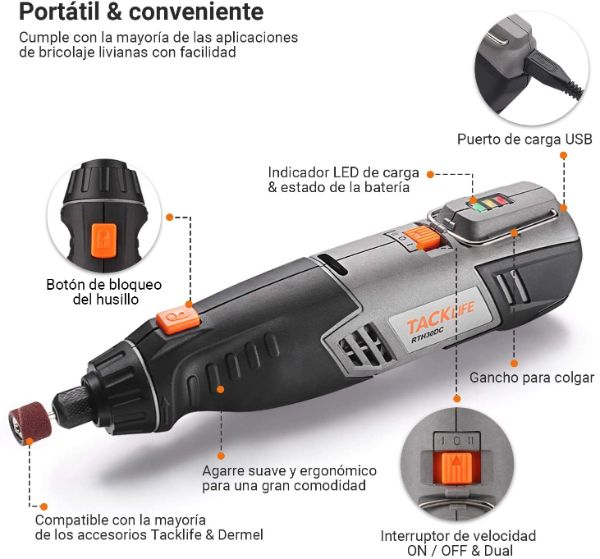 mini amoladora a bateria