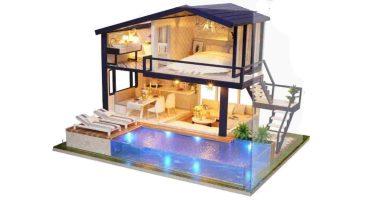 maquetas de casas con luces